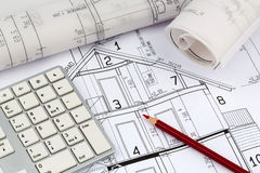 A house plan Stock Images