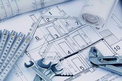 A house plan Stock Photography