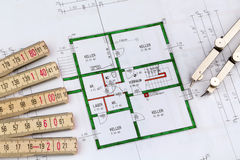 A house plan Stock Photo