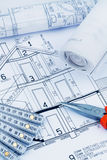 A house plan Royalty Free Stock Images