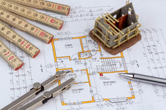 A house plan Royalty Free Stock Image
