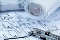 A house plan Stock Photo