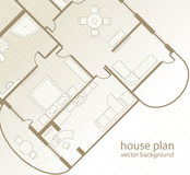 House Plan. Architectural background Royalty Free Stock Photo