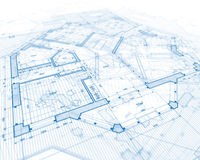 House plan blueprint Royalty Free Stock Photo