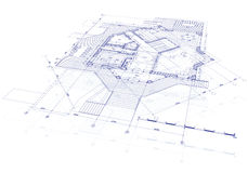 House plan blueprint Royalty Free Stock Images