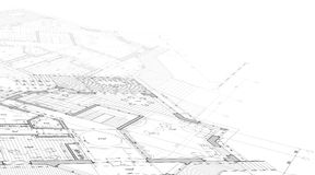 House plan blueprint Stock Photo