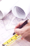 House plan blueprint - Architect design Royalty Free Stock Image