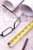 House plan blueprint - Architect design Stock Image
