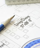 House plan blueprint - Architect design Royalty Free Stock Images