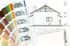 House plan blueprint Royalty Free Stock Image