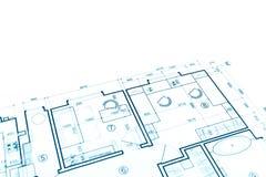 House plan blueprint, construction plan, part of architectural p Stock Images