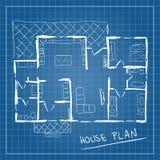 House plan blueprint doodle Stock Images