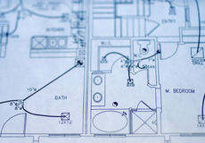 House plan blueprints Stock Image