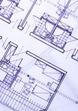 House plan blueprints Royalty Free Stock Images