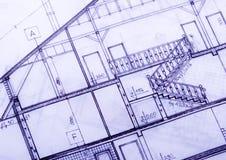 House plan blueprints Royalty Free Stock Photos