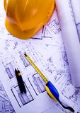 House plan blueprints Stock Photo