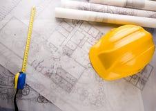 House plan blueprints Royalty Free Stock Image
