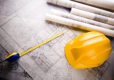 House plan blueprints Stock Photos