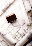 House plan blueprints Royalty Free Stock Photo