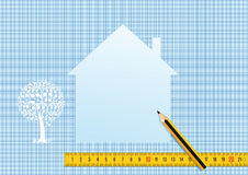 House plan and design Royalty Free Stock Images