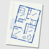 House plan doodle Stock Photography