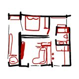 House plan, doodle for your design Stock Photo
