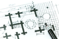 House plan drawing Stock Photo