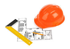 House plan and helmet Royalty Free Stock Photos