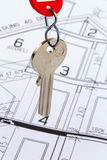 House plan with keys Stock Photos