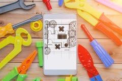 House plan layout Royalty Free Stock Photo