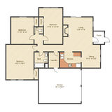 House plan with measurements Royalty Free Stock Photos