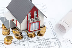 House plan on Royalty Free Stock Photography