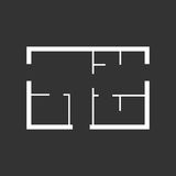 House plan simple flat icon Royalty Free Stock Image