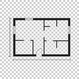 House plan simple flat icon. Vector illustration on isolated bac Stock Photos