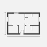 House plan simple flat icon. Vector illustration on white backgr Royalty Free Stock Photography