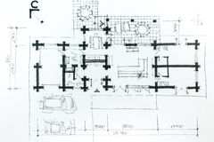 House plan sketch Royalty Free Stock Photo