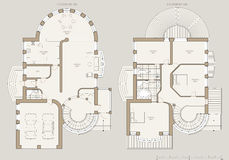 House plan - technical draw Stock Image
