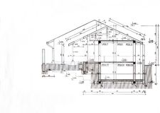 House plan template royalty free stock photography