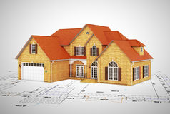 House and plan to build Stock Image