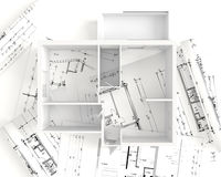 House plan top view - interior design Stock Photo