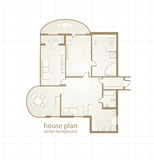House Plan. Vector illustration Stock Photography