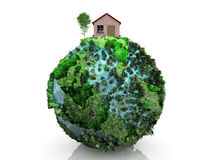 House and planet Royalty Free Stock Photo