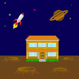 House on the planet Stock Image