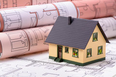 House planning with model house Royalty Free Stock Photo