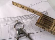 House Plans 3 royalty free stock photo
