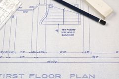 House plans as a background Royalty Free Stock Images