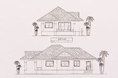 House Plans. The complete house plans Stock Photo