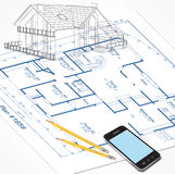 House Plans Sketch Stock Photos