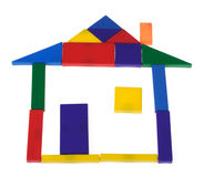 House from plastic blocks Royalty Free Stock Photo