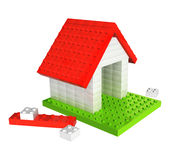 House from plastic toy blocks Stock Photography